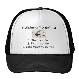 """Fly-fishing """"to do"""" list """"Gold Ribbed Hare's Ear"""" Cap"""