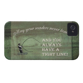 Fly fishing wish: May your waders never leak... iPhone 4 Case-Mate Case