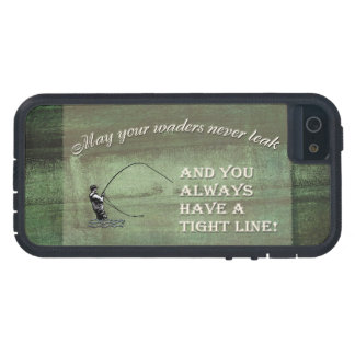 Fly fishing wish: May your waders never leak... iPhone 5 Cover