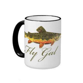 Fly Fishing Women Ringer Mug