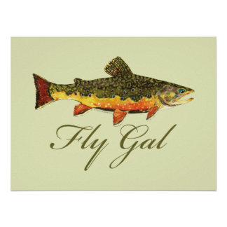 Fly Fishing Women Poster