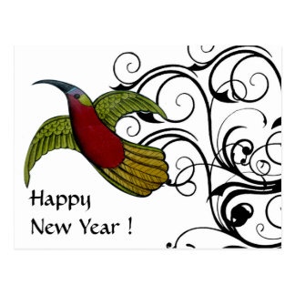 Fly for the New Year- Customized Postcard