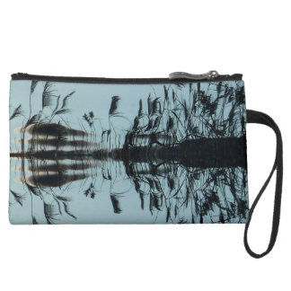 """""""Fly free"""" Abstract Black mint Clutch Wristlet"""