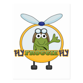 Fly Froggie Fly Helicopter Tshirts and Gifts Postcard