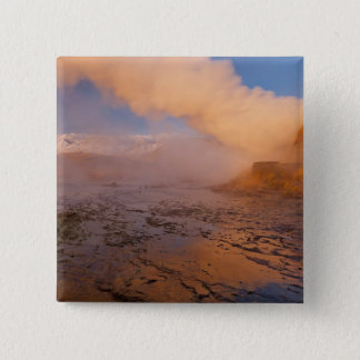 Fly Geyser in the Black Rock Desert 15 Cm Square Badge