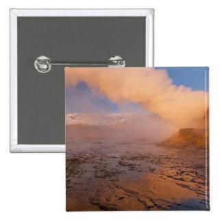 Fly Geyser in the Black Rock Desert 15 Cm Square Badge