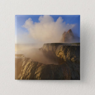 Fly Geyser with snow capped Granite Range 2 15 Cm Square Badge