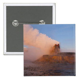 Fly Geyser with snow capped Granite Range 3 15 Cm Square Badge