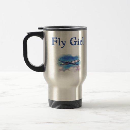 Fly Girl Flight Attendant Travel Mug