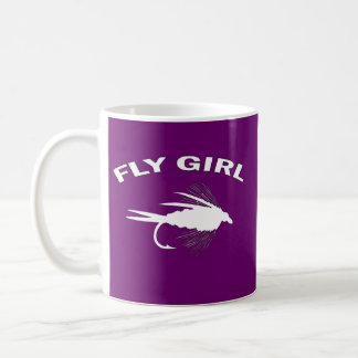 FLY GIRL FLY FISHING BASIC WHITE MUG