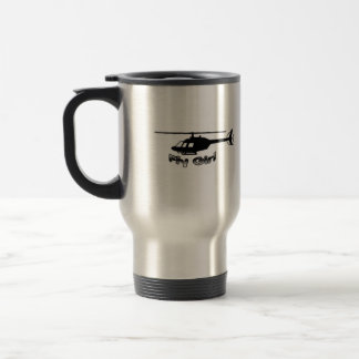 Fly Girl Helicopter Mug