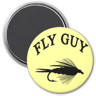 FLY GUY 7.5 CM ROUND MAGNET