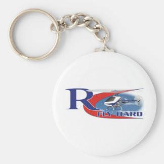 Fly Hard Basic Round Button Key Ring