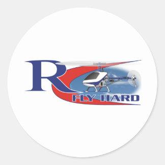 Fly Hard Round Sticker