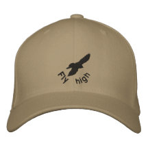 Fly high, crow, embroidery hat embroidered baseball cap