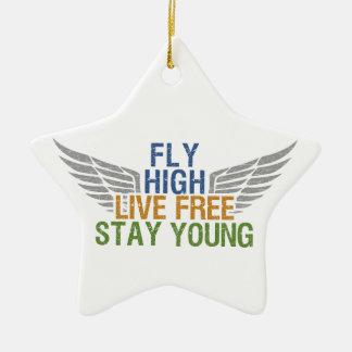 FLY HIGH custom ornament