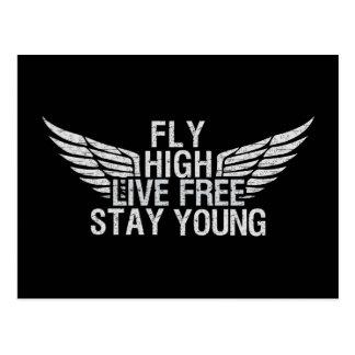 FLY HIGH custom postcard