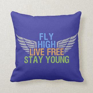 FLY HIGH custom throw pillow