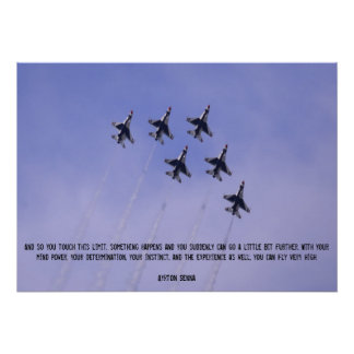 Fly High Fighter Jet Inspirational Poster