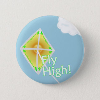 Fly High! Motivational Kite Button Pin