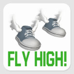 Fly High Square Sticker