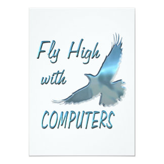 Fly High with Computers 13 Cm X 18 Cm Invitation Card