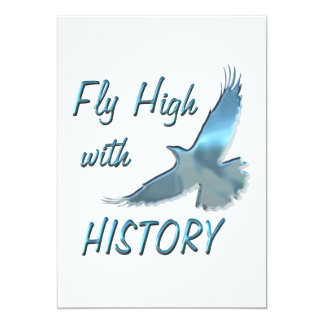 """Fly High with History 5"""" X 7"""" Invitation Card"""