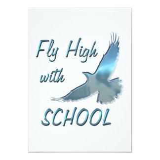 Fly High with School 13 Cm X 18 Cm Invitation Card