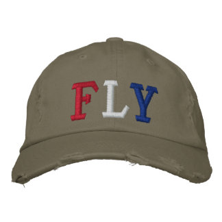 FLY IN RED WHITE AND BLUE BASEBALL CAP