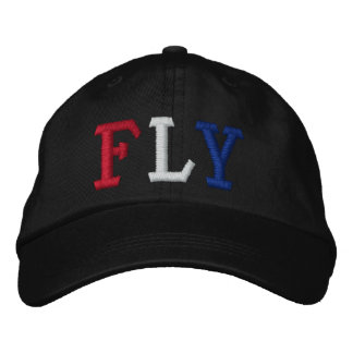 FLY IN RED WHITE AND BLUE EMBROIDERED HAT