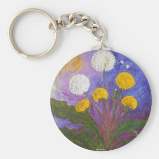 Fly Little Dandelion Fly Basic Round Button Key Ring
