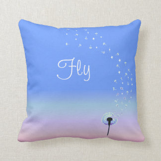 Fly Little Dandelion Seed - Blue Cushion