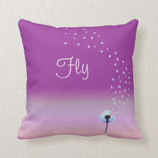 Fly Little Dandelion Seed - Pink Cushion