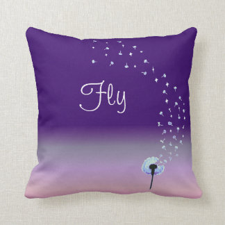 Fly Little Dandelion Seed - Purple Cushion