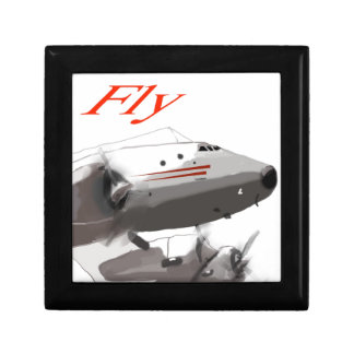 Fly  Lockheed Constellation Small Square Gift Box