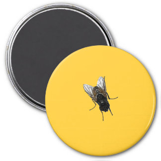 fly 7.5 cm round magnet