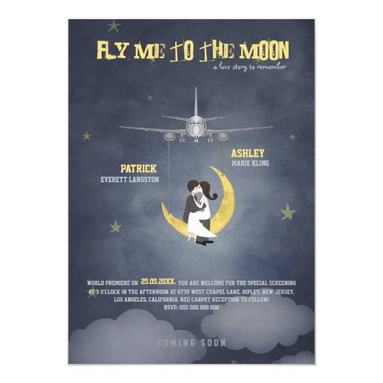 Fly Me to The Moon 2 - Movie Poster -  Wedding Card