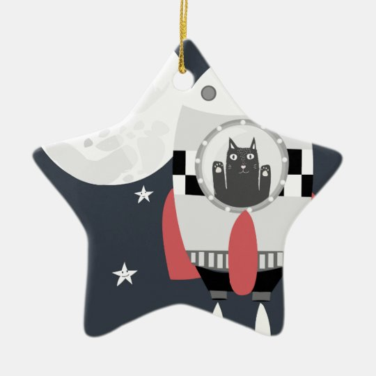 fly me to the moon christmas ornament