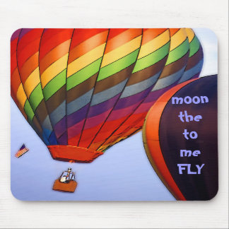 Fly me to the moon~mousepad mouse pad