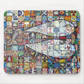 fly mosaic mouse pad