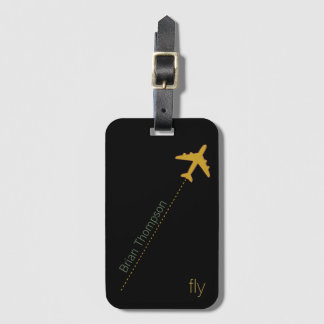 fly . named luggage tag