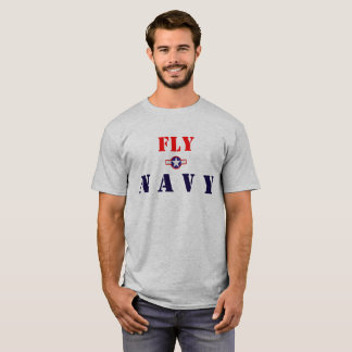 Fly Navy on the front, Naval Avaition on the back T-Shirt