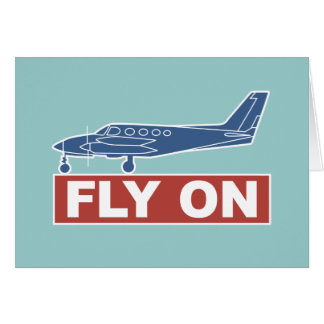 Fly On - Airplane Greeting Card