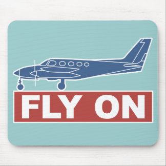 Fly On - Airplane Mouse Pads