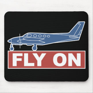 Fly On - Airplane Mousepad