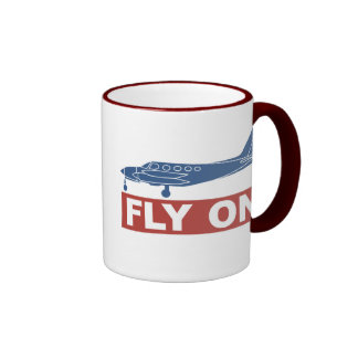 Fly On - Airplane Ringer Mug