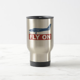 Fly On - Airplane Stainless Steel Travel Mug