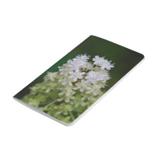 Fly Poison White Wildflower Floral Pocket Journal