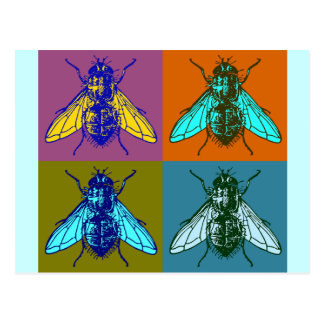 Fly Pop Art Postcard