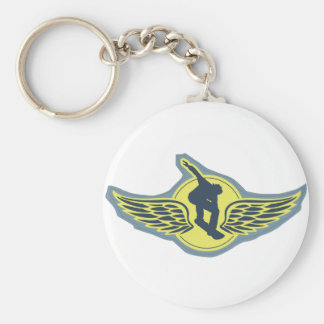 Fly Solo Basic Round Button Key Ring